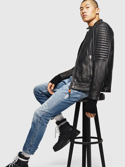 Diesel - L-SHIRO, Black Leather - Leather jackets - Image 7