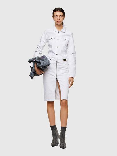Diesel - DE-PENCIL-ZIP, White - Skirts - Image 5