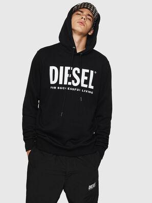S-GIR-HOOD-DIVISION-, Black - Sweaters