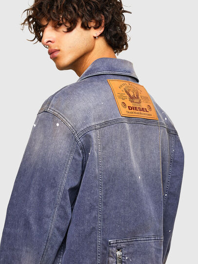 Diesel - D-ANTONY-SP, Medium blue - Denim Jackets - Image 4