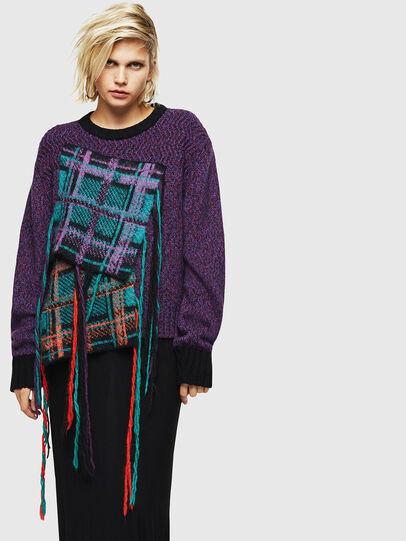 Diesel - M-TARTANN, Violet - Knitwear - Image 1