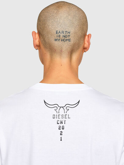 Diesel - CL-T-JUST-O, White - T-Shirts - Image 5