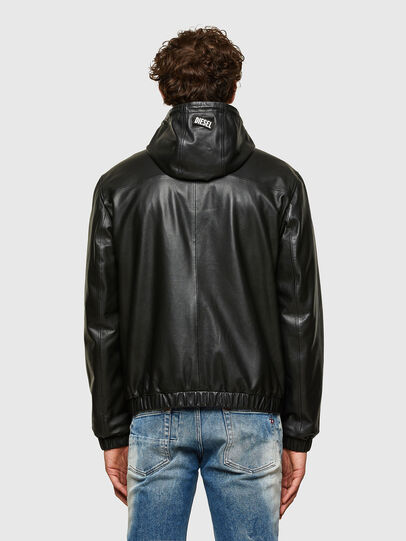 Diesel - L-CIRCLE, Black - Leather jackets - Image 2