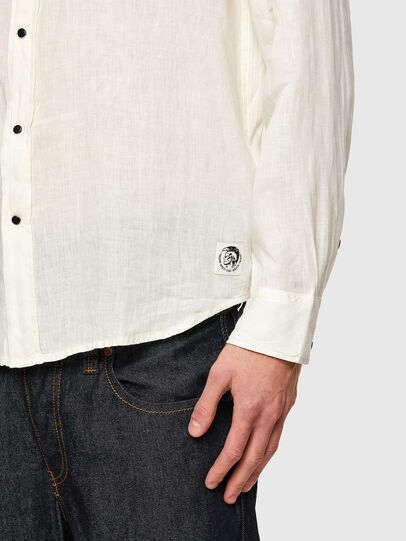 Diesel - S-EAST-LONG-LIN, White - Shirts - Image 4