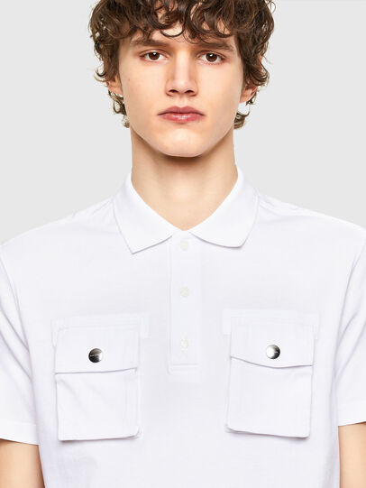 Diesel - T-ERPOLOCK, White - Polos - Image 3