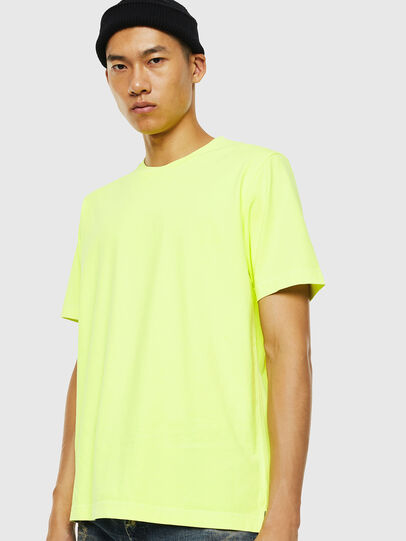 Diesel - T-JUST-SLITS-FLUO, Yellow Fluo - T-Shirts - Image 1