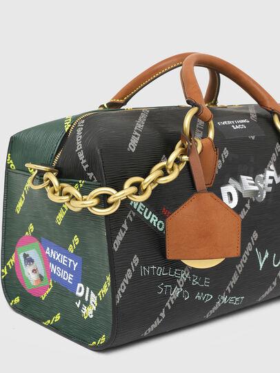 Diesel - TYLEBAG R, Black/Green - Travel Bags - Image 5