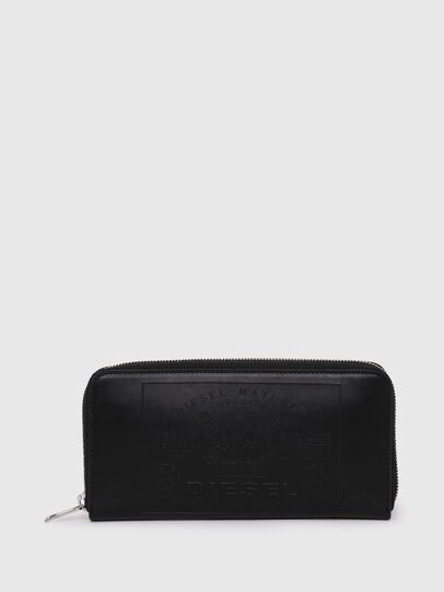 Diesel - 24 ZIP, Black - Zip-Round Wallets - Image 1