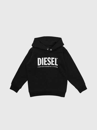 Diesel - SDIVISION-LOGO OVER, Black - Sweaters - Image 1