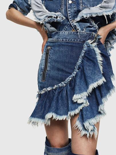 Diesel - DE-AGGIE, Medium blue - Skirts - Image 1