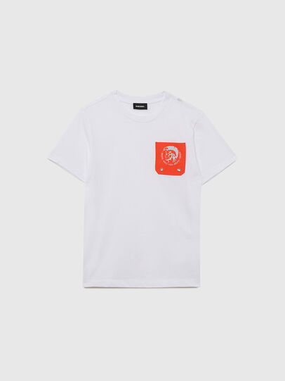 Diesel - TLARS, White/Orange - T-shirts and Tops - Image 1