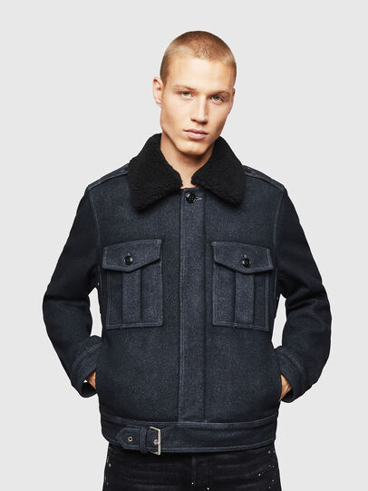 Diesel - W-VLADIMIR, Black - Winter Jackets - Image 1