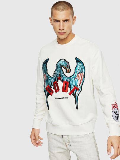 Diesel - S-BAY-EMB, White - Sweaters - Image 1