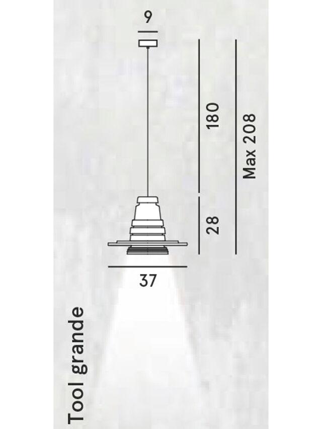 Living TOOL GRANDE SOSP, Black - Hang Lighting - Image 2