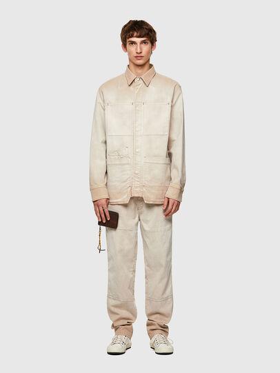 Diesel - D-CORUS-SP JOGGJEANS, White - Denim Shirts - Image 7