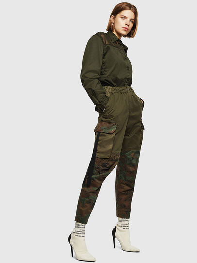 Diesel - P-THENA-A, Green Camouflage - Pants - Image 6