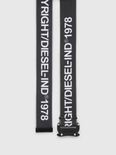Diesel - B-TAPE, Black/White - Belts - Image 3