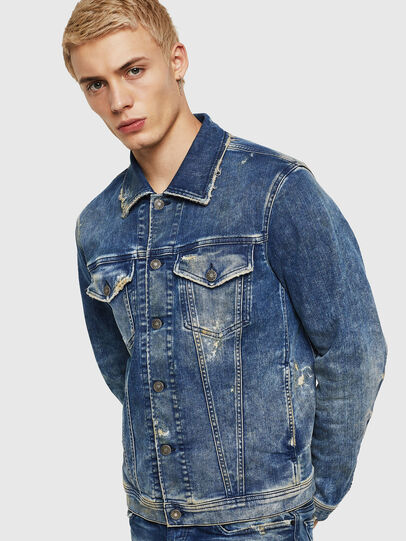 Diesel - NHILL-TW, Medium blue - Denim Jackets - Image 1