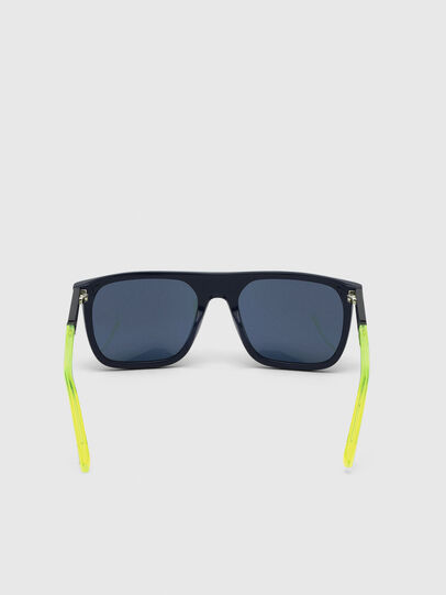 Diesel - DL0299, Blue/Yellow - Sunglasses - Image 4