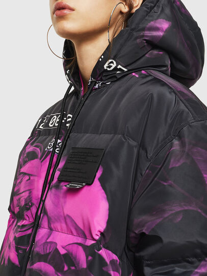 Diesel - W-DORYN-B, Black/Pink - Winter Jackets - Image 8