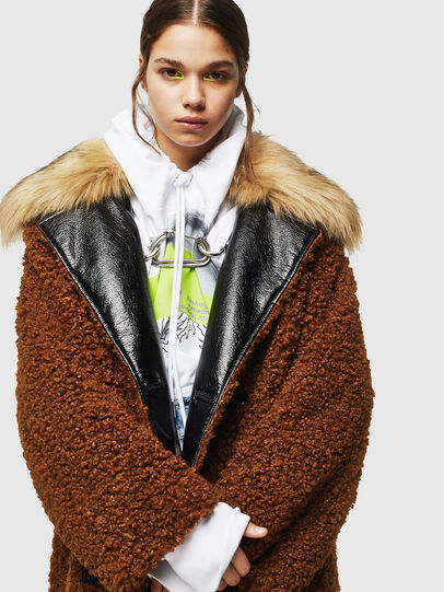 Diesel - L-ASC, Brown - Leather jackets - Image 3