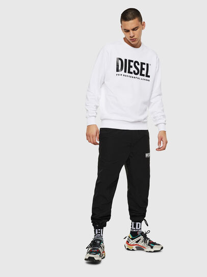 Diesel - S-GIR-DIVISION-LOGO, White - Sweaters - Image 4