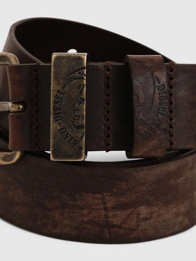 Diesel B-FRAG, Brown Leather - Belts - Image 2