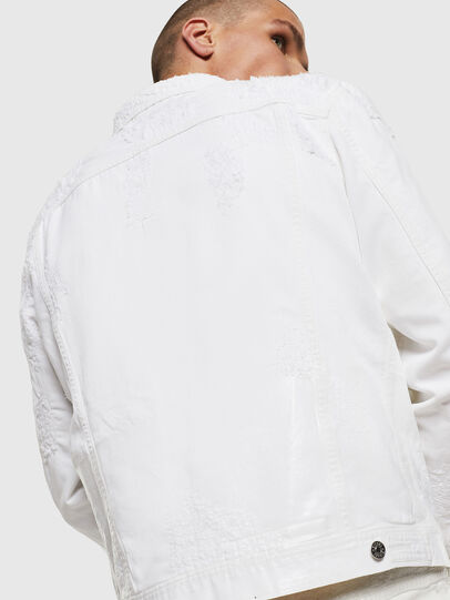 Diesel - NHILL, White - Denim Jackets - Image 8