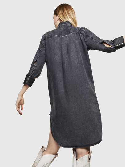 Diesel - DE-BLANK, Black/Dark grey - Dresses - Image 6