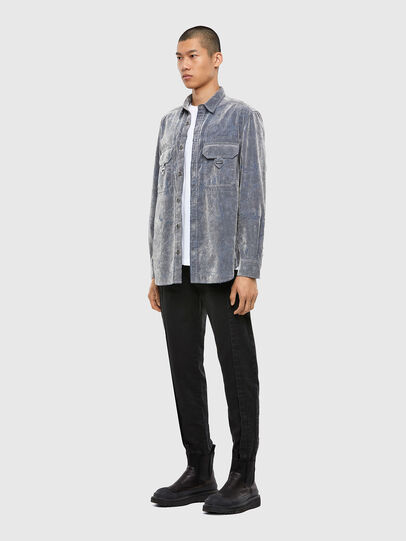 Diesel - D-RONNY, Grey - Denim Shirts - Image 6
