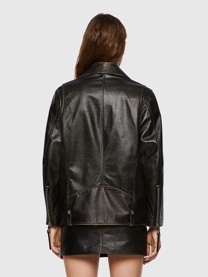 Diesel - L-EDMEA, Black - Leather jackets - Image 2
