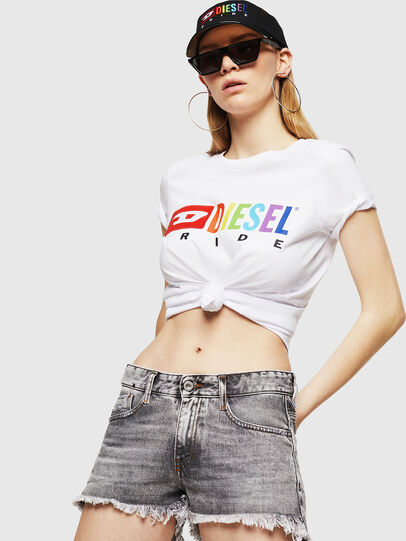 Diesel - UFTEE-SILY-INT, White - T-Shirts - Image 4