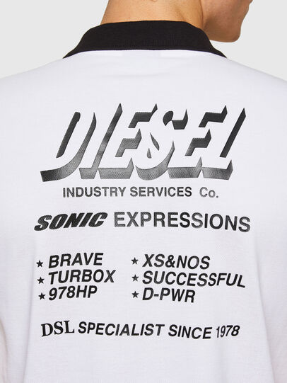 Diesel - T-RANDY-NEW-A1, White - Polos - Image 3