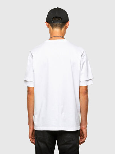 Diesel - T-FONTAL, White - T-Shirts - Image 2