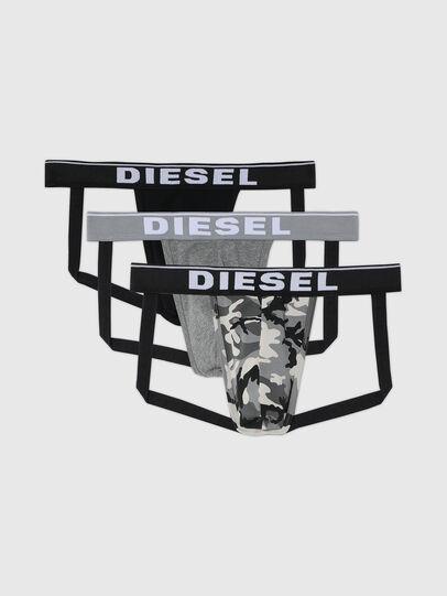 Diesel - UMBR-JOCKYTHREEPACK, Grey/Black - Jockstraps - Image 1