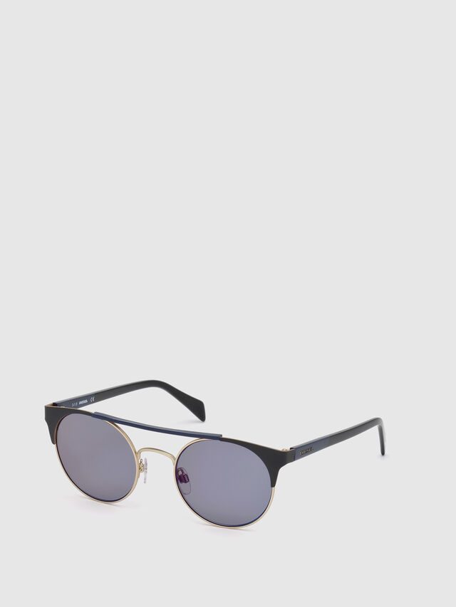Diesel - DL0218, Black/Blue - Sunglasses - Image 4