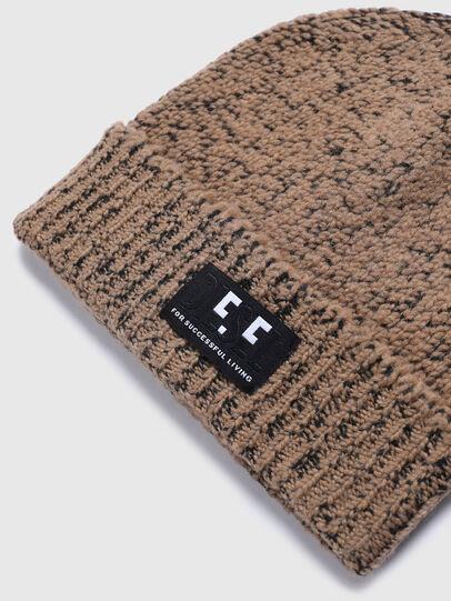 Diesel - K-GREENBAY, Brown - Knit caps - Image 3