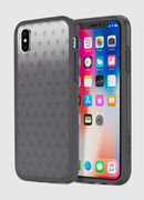 MOHICAN HEAD DOTS BLACK IPHONE X CASE, Black/Grey - Cases