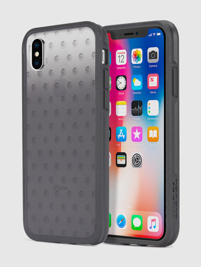 Diesel MOHICAN HEAD DOTS BLACK IPHONE X CASE, Black/Grey - Cases - Image 1