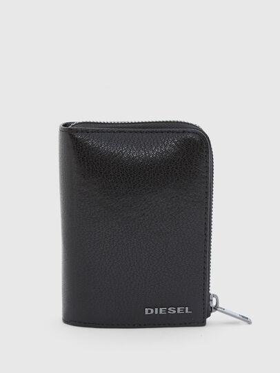 Diesel - L-12 ZIP, Black/Blue - Zip-Round Wallets - Image 1