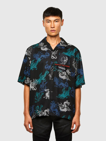 Diesel - S-BEACH, Black - Shirts - Image 1