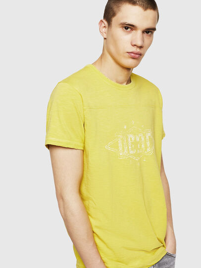 Diesel - T-DIEGO-CUT-A, Yellow - T-Shirts - Image 3