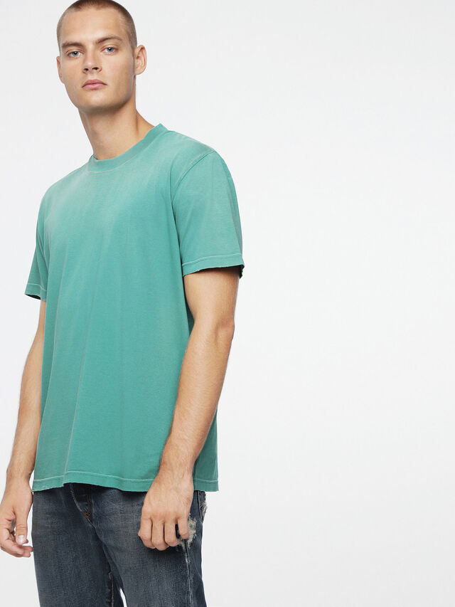 Diesel - T-JOEY-T, Water Green - T-Shirts - Image 1