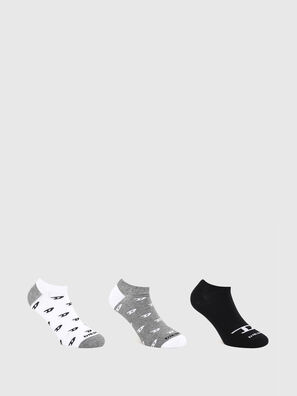 SKM-GOST-THREEPACK, Grey/White - Socks