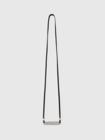 Diesel - N-METALBLOCK, Silver/Black - Bijoux and Gadgets - Image 1