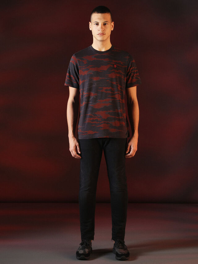 DVL-TSHIRT-CAMU-SPECIAL COLLECTION, Red/Black