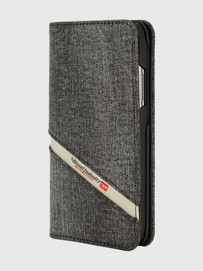 Diesel - DIESEL 2-IN-1 FOLIO CASE FOR IPHONE XS & IPHONE X, Grey - Flip covers - Image 1