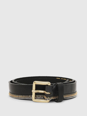 B-ZIPPER, Black - Belts