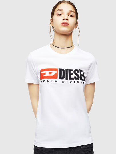 Diesel - T-SILY-DIVISION, White - T-Shirts - Image 1