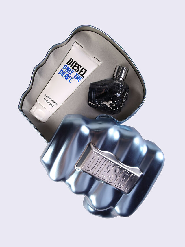 Diesel ONLY THE BRAVE 50ML METAL GIFT SET, Blue - Only The Brave - Image 1